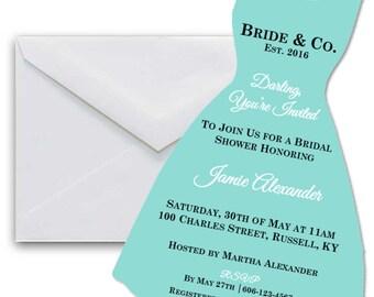 Tiffany's Bridal Shower Invite - Custom