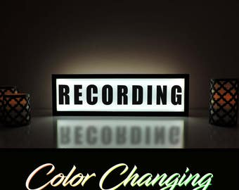 Recording Sign, Recording Light, Now Recording, Recording Light Up Sign, Business Sign, On Air Sign, On Air, Recording, On Air Recording
