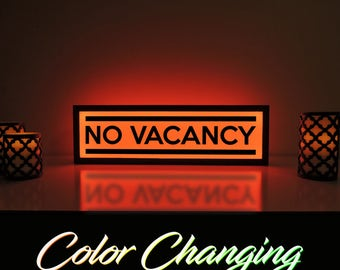 No Vacancy Sign, No Vacancy, Vacancy Sign, Light Up Sign, Business Sign, Motel Sign, Hotel Sign, Bed and Breakfast Sign