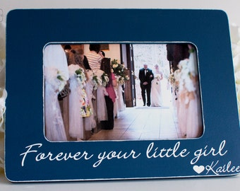 Father of the Bride Gift wedding gift for father of the bride father of the bride forever your little girl 4x6