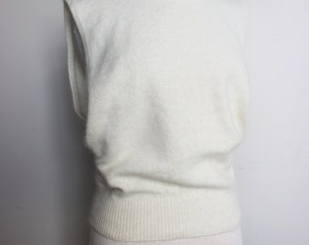 I. B. DIFFUSION Angora, Lambswool Tank with Open Sides