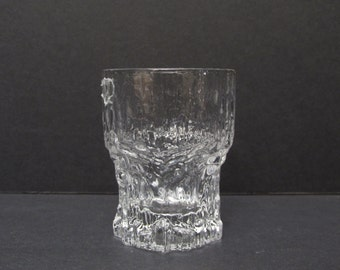 "Iittala Finland Aslak crystal shot glass/ 1970's glass by Tapio Wirkkala.  Made in Finland. Excellent/ 2.5"" H X 1 7/8"" W"