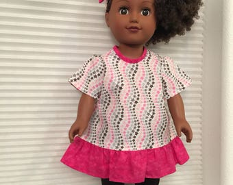 """18"""" Doll Tunic and Leggins with Head band"""
