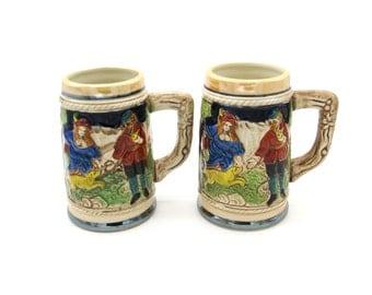 Beer Stein, Beer Mug, Stein, Ceramic Beer Stein, Ceramic Beer Mug, Cool Gifts for Men, Vintage Beer, Japanese Ceramics, Made in Japan,