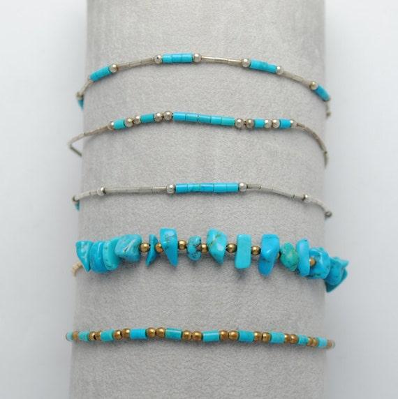 Bracelet en perles de turquoise