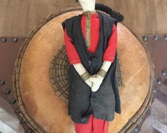 Muslim doll, handmade doll, musulman doll, Islamic art, Islamic doll, Unique, Rare, Vintage Male Doll In National Islamic Costume, gift