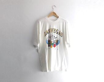 LAS VEGAS SHIRT // 90s // X-Large // Las Vegas // Tourist Shirt // Thin Shirt // Las Vegas T-Shirt // Las Vegas Shirt //