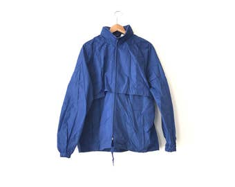 80s WOOLRICH WINDBREAKER // Medium // 80s Windbreaker // Blue Windbreaker // Woolrich Winbreaker // Basic Windbreaker // Minimal Windbreaker