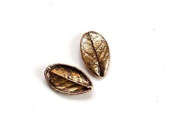 5 PCS Cranberry Leaf Pendant Real Leaf Charm Bronze Leaf Brass Leaf Copper Leaf Silver Leaf Unique Beads Craft Supplies Jewelry Findings