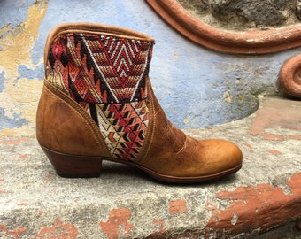 Cowboy Boots, Cowgirl Boots, Ankle Boots, Handmade Guatemalan Boots, Leather Boots, Women's Boots, Brown Boots, Handmade Boots CUSTOM MADE