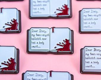 Heathers Dear Diary Enamel/Lapel Pin