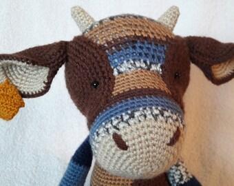 Handmade Cow Kawaii Crocheted Amigurumi Toy