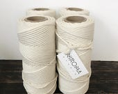 BULK 8 mm string: 4 spools of 8 mm thickest Cotton string, macrame string, bulk cord, macrame cord, craft string, macrame twine, cotton