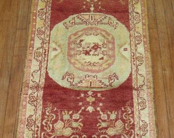 Vintage Turkish Oushak Rug Size 2'5''x4'8''