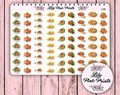 72 Lunch and Dinner Meals Stickers L-08 - Perfect for Erin Condren Planner Stickers / Life Planners / Journals / Stickers.