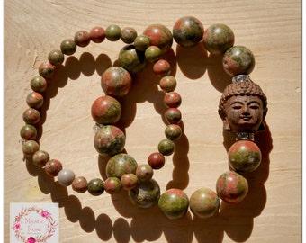 Unakite Buddha Dharma Bracelet