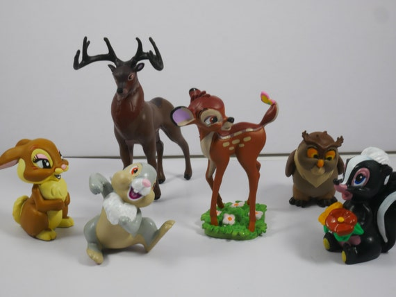 Bambi cake topper, Set of 6 Cake toppers figurine of Bambi ...