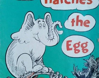Dr. Seuss, Horton Hatches the Egg, Promotional Give Away, Soft Cover, Distributed in Canada by Random House of Canada, 1968. Great Piece!