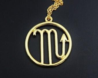 Scorpio Star Sign Necklace Scorpio Zodiac Necklace Sign Zodiac Constellation Necklace Zodiac Gifts Personalized Necklace Customized Jewelry