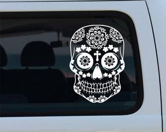 Sugar Skull Owl Vinyl Decal  Sugar Skull Owl Decal  Sugar - Owl custom vinyl decals for car