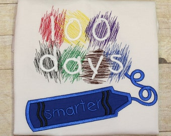 100 Days of School Applique Instant Digital Download Fill Stitch Design - 0369