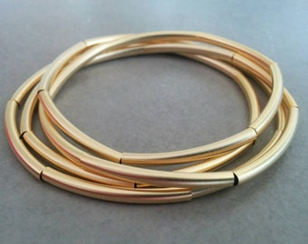 Gold Wrap Bracelet, Gold Bracelet, Tube Bracelet, Delicate Bracelet, Simple Gold Bracelet, Leather Bracelet, Gold Necklace, Wrap Bracelet
