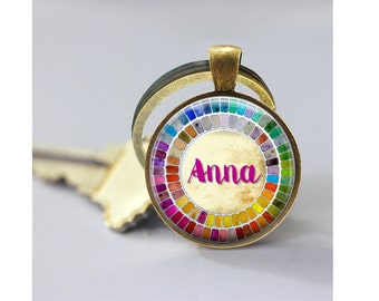 Watercolor Palette Gift for Artist keyring - Personalized Palette keychain  Custom Name gift for art student - gift for watercolor artist