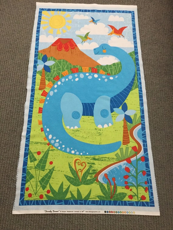 Boy fabric fabric panels for quilting dinosaur fabric for Childrens quilt fabric