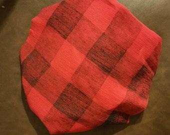 Lumberjack stamped muslin blanket