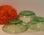 Vaseline Glass Bowls - Se...