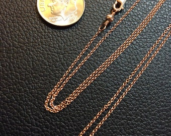 "18"" Rose Gold-Filled 1mm Cable Chain"