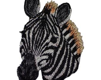 Zebra Head Applique Patch (Iron on)
