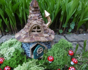 Wonky wizard's house,Fantasy house,magical,Fairy garden,miniture house,miniture garden,magical house