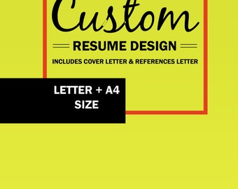 Custom resume design | Etsy