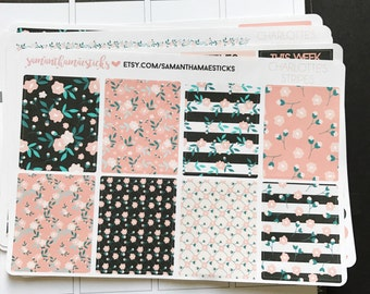 VERTICAL Charlotte's Stripes for use with Erin Condren Lifeplanner™ Weekly Kit Planner Stickers