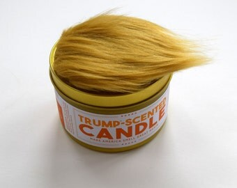 Anti-Trump Trump-Scented Candle | 16 oz tin | Political humor | Funny candle | Funny gift for Democrats | Gift for liberals