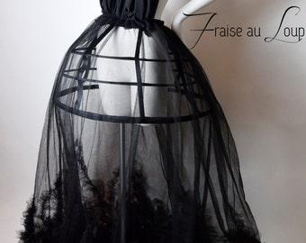 Dress Strawberry to the Wolf - Mode - creator - Crinoline - Tutu - Dark - Hoops