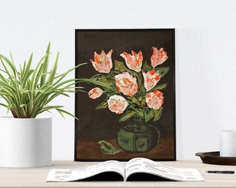 Unique Office Décor U2013 Hand Painted Canvas Art U2013 Small Art Canvas   Entryway  Art Decor