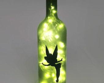 Tinkerbell Wine Bottle Lamp / Fairy Light / Nightlight / Gift Ideas