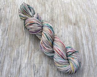 Somewhere There's a Little Piece of Rainbow - Superwash Merino + Nylon - Hand Dyed Yarn - Hand Dyed Sock Yarn - Fingering Yarn - Merino Wool