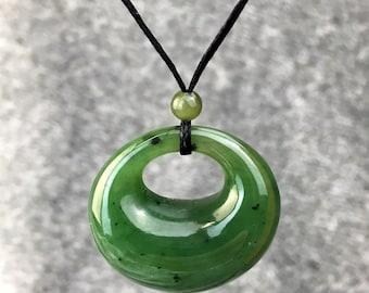 Canadian Nephrite Jade Pendant - Jade Necklace - Green Jade - Natural Jade