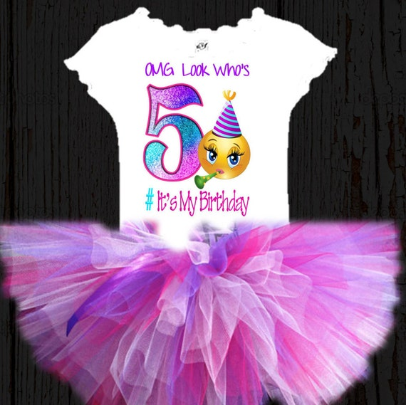 Party Emoji Girls Tutu