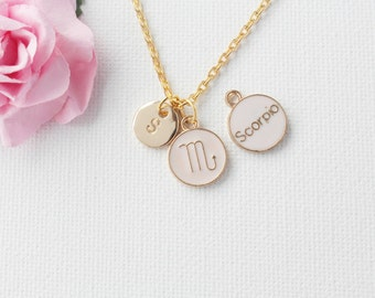 Scorpio Zodiac Sign Astrology Necklace, scorpio jewelry, star sign necklace,star sign necklace, October and November birthday / GFDISCSCOR