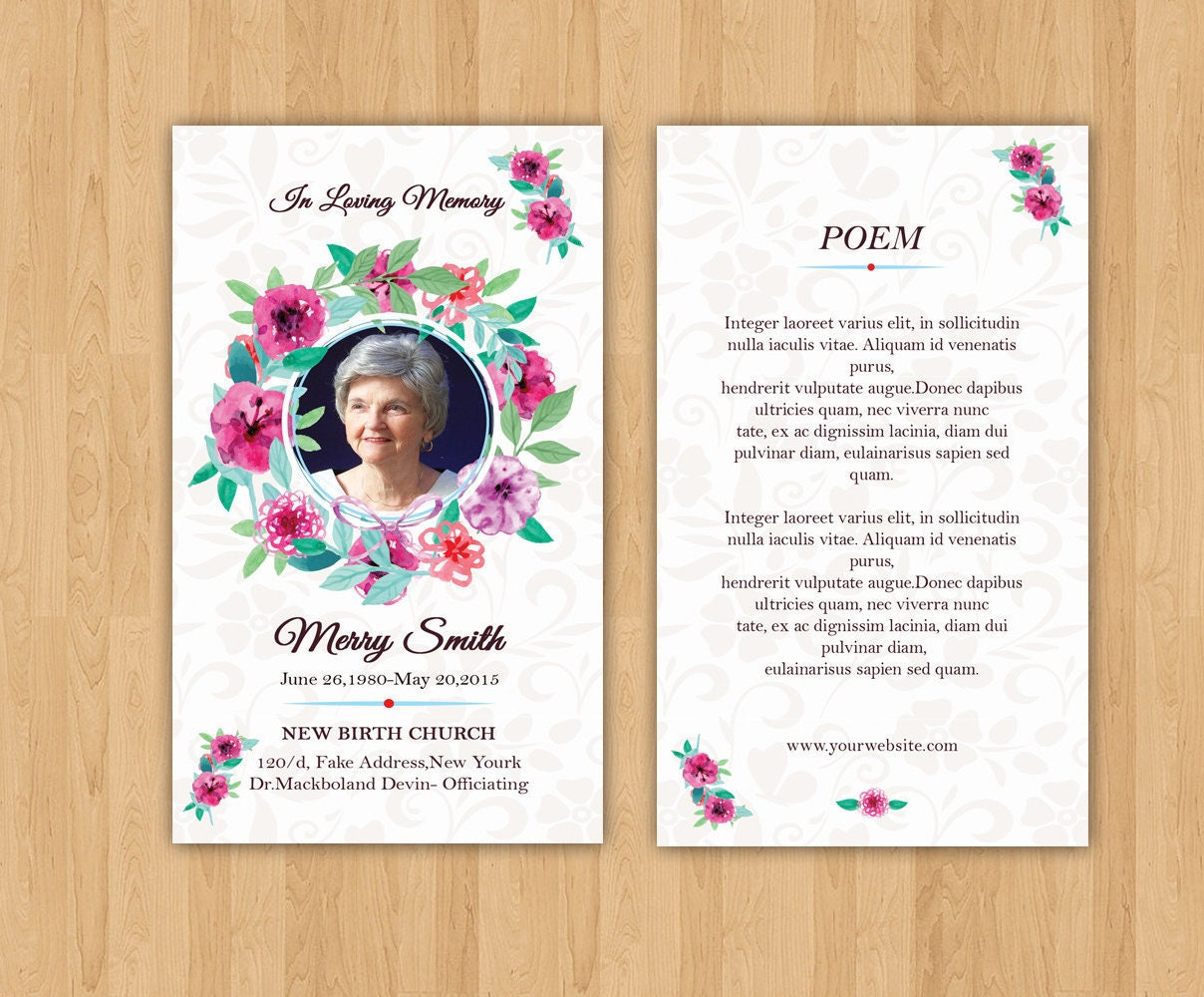 funeral prayer card template editable ms word photoshop. Black Bedroom Furniture Sets. Home Design Ideas