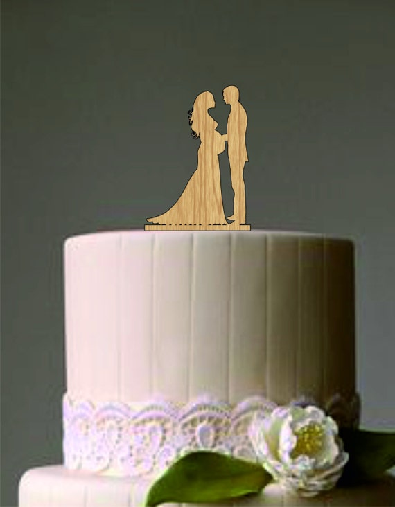 wedding cake topper pregnant bride wedding cake topper and groom silhouette cake 26372