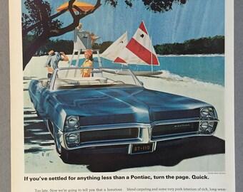 1967 GM Pontiac Catalina Print Ad - Blue