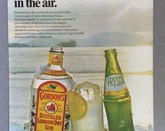 1969 Gordon's Gin Print Ad - Fresca