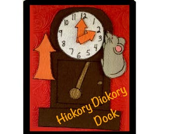 hickory dickory dock activities for preschool telling time etsy 425