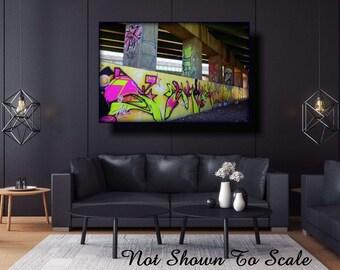 Graffiti Art Canvas, Large Canvas Art, Large Wall Art Canvas, Street Art, Graffiti Art, Underground Art, Graffiti On Canvas, FREE-Shipping