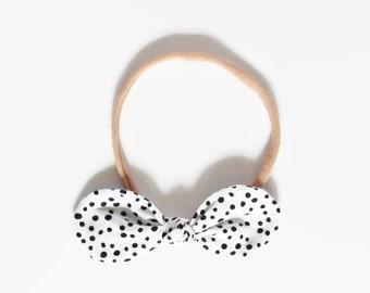 Baby Nylon Bow, Bow Small Headbands, Itty Bitty Bows, Thin Baby Headband, Skinny Bow Headband, Toddler Bow Headband, Polka Dot, Hair Bow